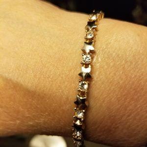 Jewelry - Star and clear stone bracelet